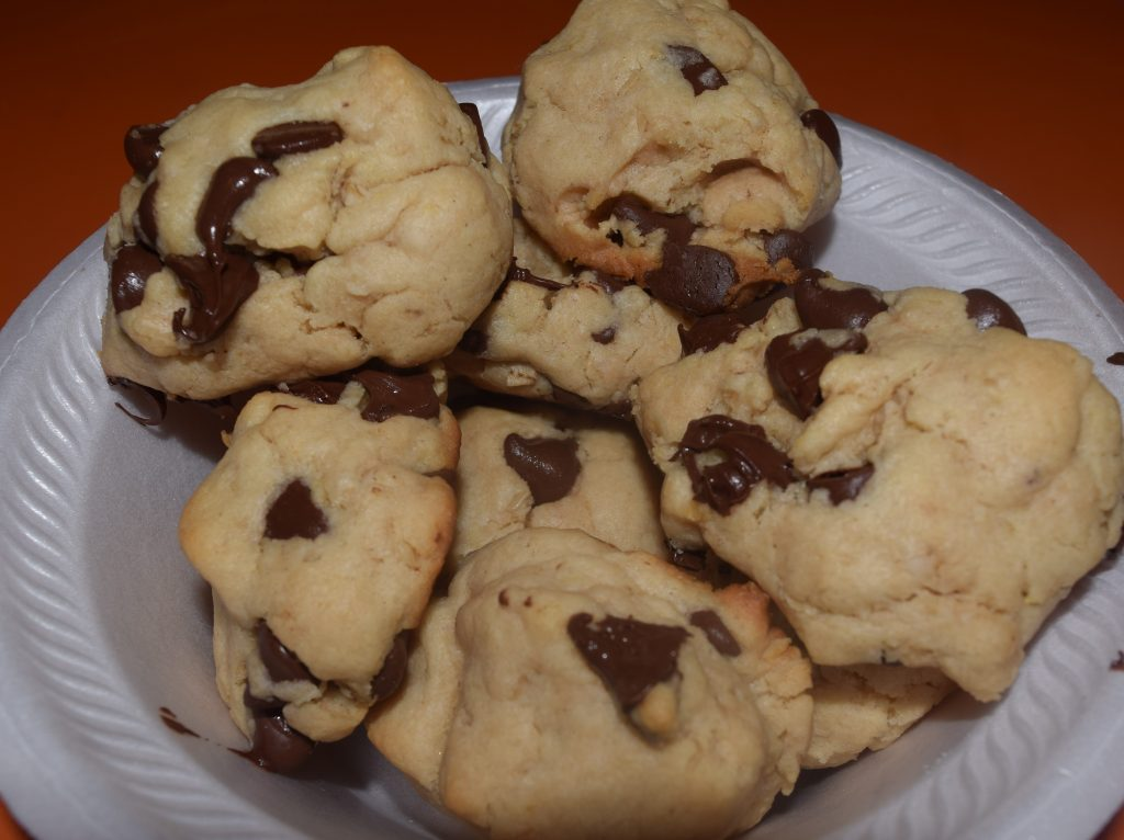 These cookies come together in 15 minutes and have a soft, cakey texture.  They melt in your mouth and are so easy!