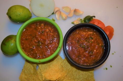 This homemade salsa is a combination of chunky and blended, creating the perfect texture.  You'll have everyone who tastes it asking for the recipe!